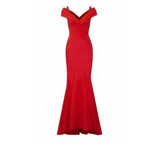 Gown Red Size 6 Seamed Ponte